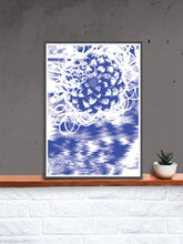 Load image into Gallery viewer, Graf Flower Graffiti Art Print in a frame on a shelf