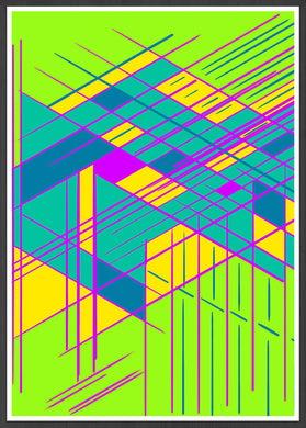 Guided Glitch Glitch Art Print in a frame