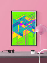Load image into Gallery viewer, Guided Glitch Art Print in a frame on a wall