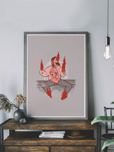Load image into Gallery viewer, Happy Gurl Illustration Wall Art in a stylish room