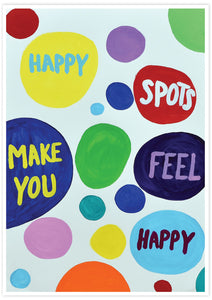 Happy Spots Quirky Print not in a frame