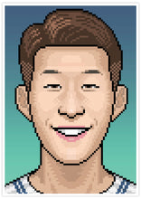 Load image into Gallery viewer, Heungmin Football Art Print no frame