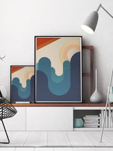 Load image into Gallery viewer, The Hills Are Alive Minimal Art in a modern room