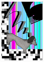 Load image into Gallery viewer, Hot Diggity Glitch Art Print not in a frame