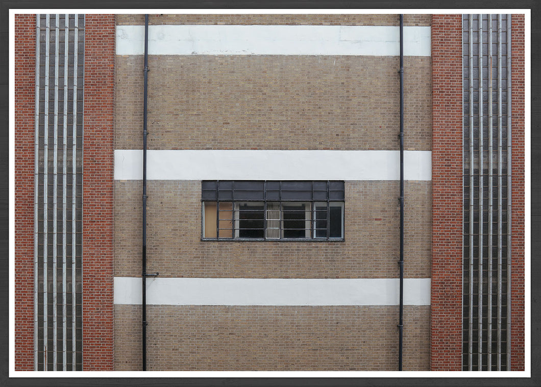 Industrial Fraser Window Building Photo Print Framed