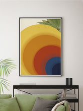 Load image into Gallery viewer, Retro Circles Abstract Print in a modern space