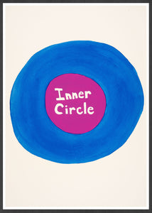 Inner Circle Quirky Print in a frame
