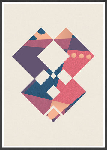 Invader Geometric Art Poster