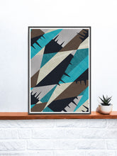 Load image into Gallery viewer, Invert Art Geometric Abstract Art on a Shelf