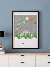 Load image into Gallery viewer, Written in the Stars Woodland Print in a frame on a wall