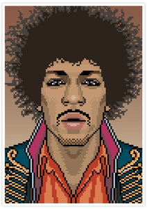 Jimi Music Icon Art Print no frame
