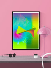 Load image into Gallery viewer, Jupiters Weather Glitch Art Print in a frame on a wall