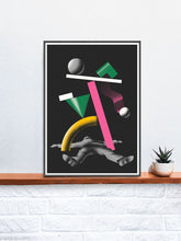 Load image into Gallery viewer, Ko 2 Contemporary Print in a frame on a shelf