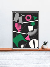 Load image into Gallery viewer, Ko Contemporary Print in a frame on a shelf