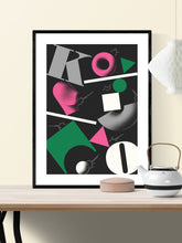 Load image into Gallery viewer, Ko Contemporary Print in a frame on a wall