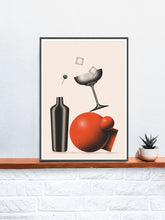 Load image into Gallery viewer, Koktajl Art Contemporary Print on a Shelf