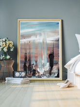Load image into Gallery viewer, Koyo Beach Impression Painting in a bedroom