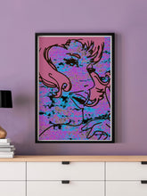 Load image into Gallery viewer, Lady Pixel Pop Wall Art in a frame on a wall