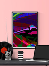 Load image into Gallery viewer, Landscape Audio Giclee Art Print in a frame on a wall