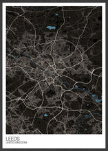Load image into Gallery viewer, Leeds UK City Map Art not in a frame