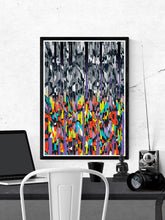 Load image into Gallery viewer, Line Glitch 2 Abstract Pattern Print on a wall