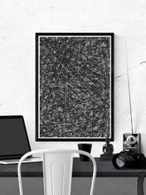Load image into Gallery viewer, Line Glitch Abstract Pattern Print on a wall