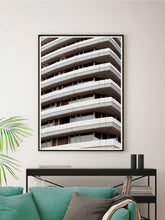 Load image into Gallery viewer, Liverpool Facade Architecture Art Print in Modern Room Interior