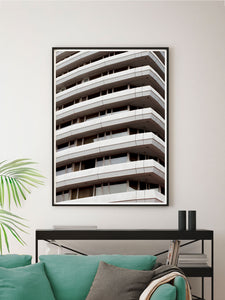 Liverpool Facade Architecture Art Print in Modern Room Interior