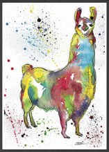 Load image into Gallery viewer, Llama Painting Print