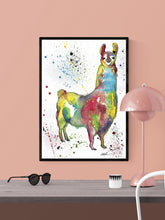 Load image into Gallery viewer, Llama Poster Print