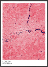 Load image into Gallery viewer, London City Map Pink