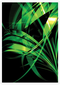Macro Floral Green Abstract Art Print no frame