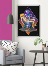 Load image into Gallery viewer, Madonna Scifi Art Poster in lounge