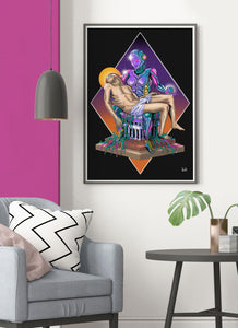 Madonna Scifi Art Poster in lounge