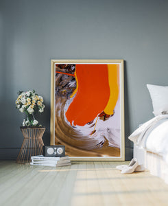 Mam Sunset Abstract Print in a stylish roomset