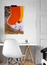 Load image into Gallery viewer, Mam Sunset Abstract Print on a wall in a bedroom