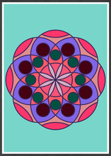 Load image into Gallery viewer, Mandala 1 Pink Mandala Art Print in frame