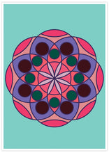 Load image into Gallery viewer, Mandala 1 Pink Mandala Art Print not in a frame