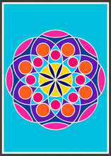 Load image into Gallery viewer, Mandala 2 Pink Mandala Art Print in frame
