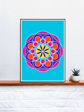 Load image into Gallery viewer, Mandala 2 Pink Mandala Art Print on a Shelf