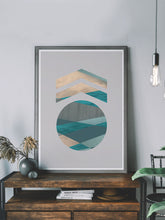 Load image into Gallery viewer, Medal Stylish Geometric Art Print on a shelf