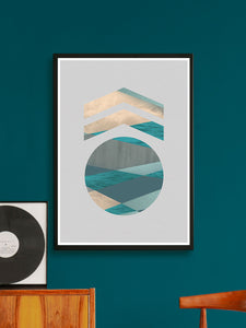 Medal Stylish Geometric Art Print on a wall