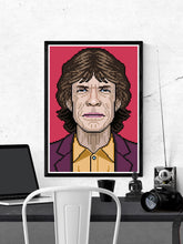 Load image into Gallery viewer, Mick Rock Icon Art Print in a frame on a wall