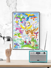 Load image into Gallery viewer, Milly Burst Fantasy Wall Art in a frame on a shelf