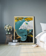 Load image into Gallery viewer, Minds Eye Macro Oil Print in a modern bedroom