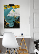 Load image into Gallery viewer, Minds Eye Macro Oil Print on a wall in a stylish interior