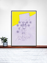 Load image into Gallery viewer, Miz Cracker Contemporary Wall Art in a frame on a shelf