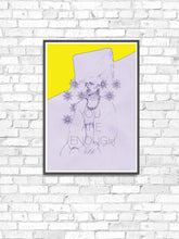 Load image into Gallery viewer, Miz Cracker Contemporary Wall Art in a frame on a wall