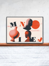 Load image into Gallery viewer, Mniej Art Surreal Art Print on a Shelf