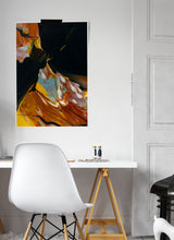 Load image into Gallery viewer, Moments and Then Abstract Print in a trendy room setting